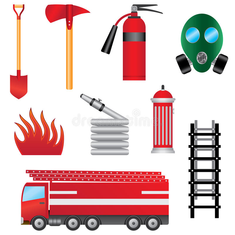 Download Set Of Fire Prevention Objects. Royalty Free Stock Image - Image: 24232556