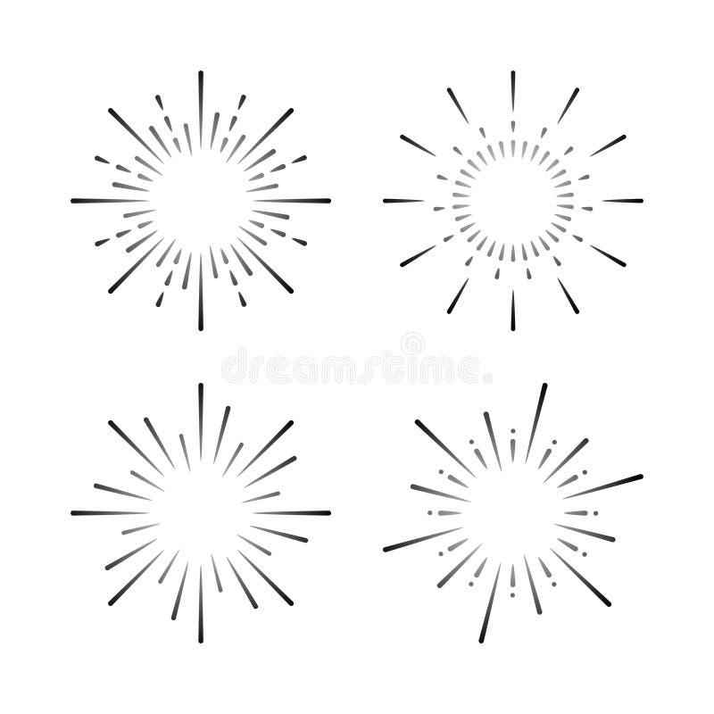Set of firework explosion vectors vector illustration