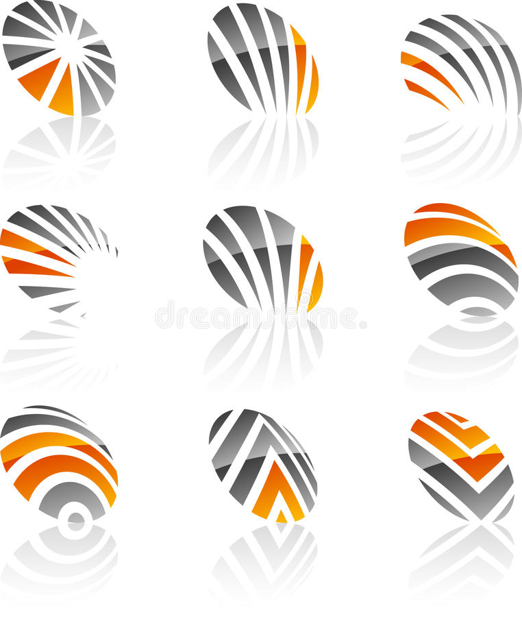 Set Firmasymbole. vektor abbildung