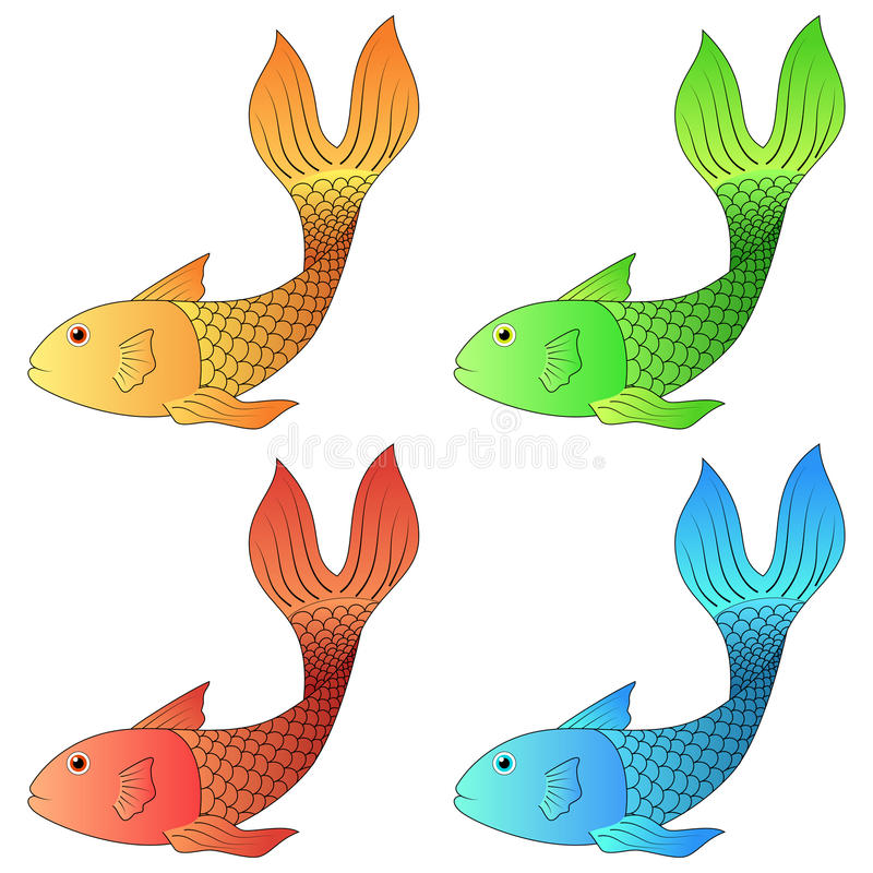 Download Set of fish stock vector. Image of isolated, drawing - 43712413