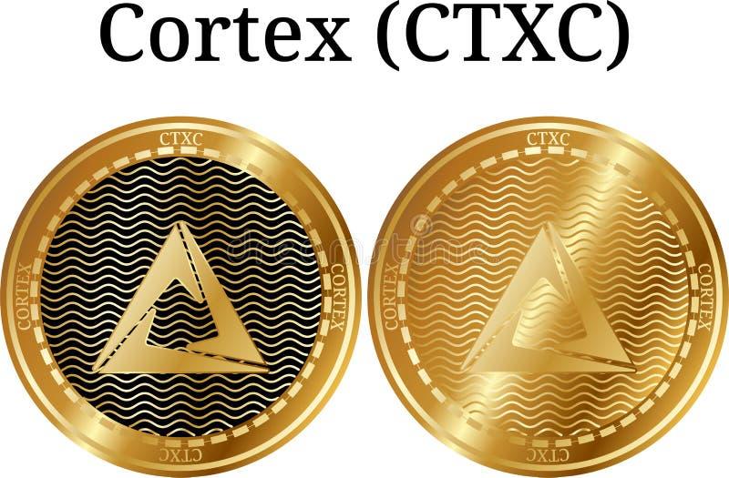 Set fizyczny złoty menniczy Cortex (CTXC) ilustracji