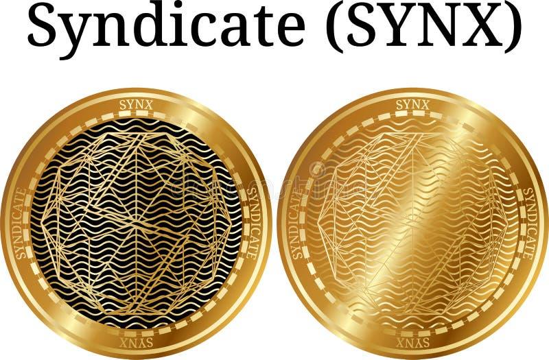 Set fizyczny złoty menniczy koncern (SYNX) royalty ilustracja