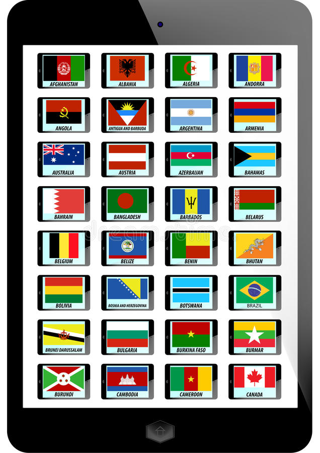 Set Of Flag Royalty Free Stock Photos