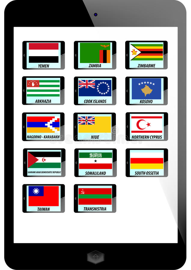 Set Of Flag Royalty Free Stock Image