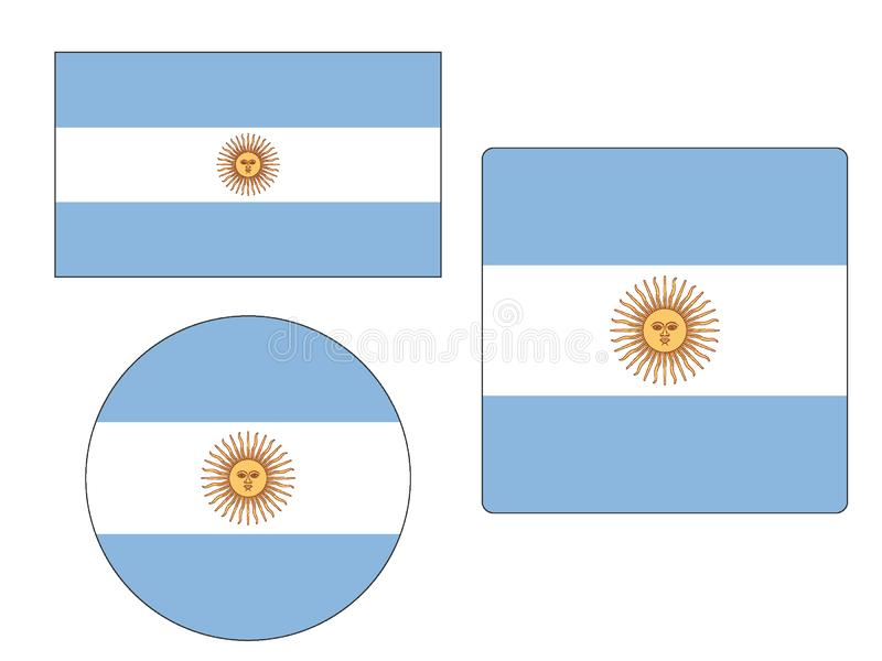 Set of Flags of Argentina. Vector illustration of the Set of Flags of Argentina vector illustration