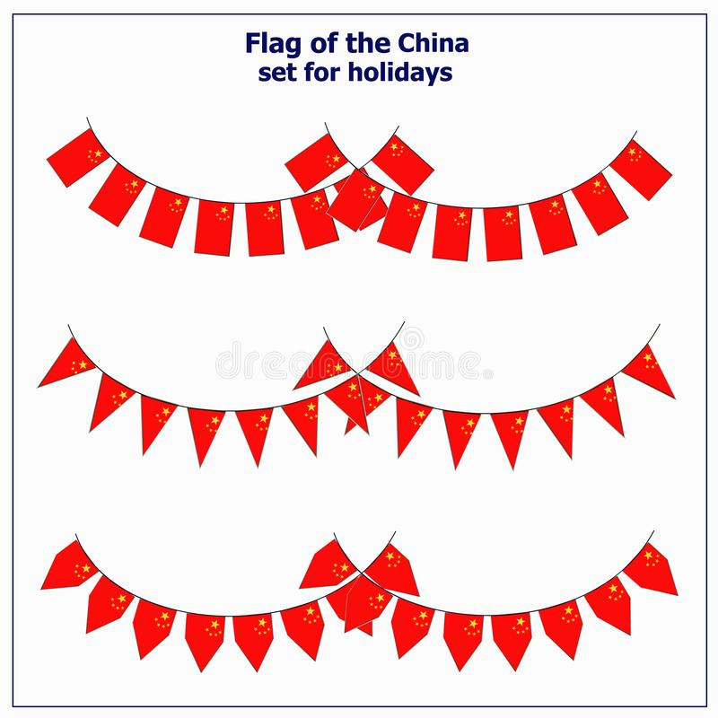 Set with flags China. royalty free illustration