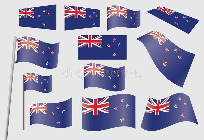 Download Set Of Flags Of New Zealand Stock Vector - Image: 27250122