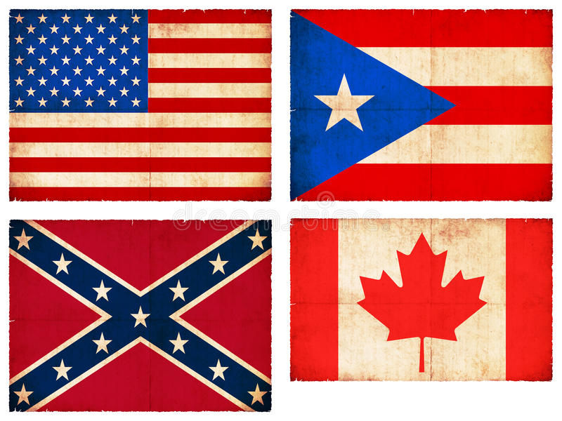 Download Set Of Flags From North America #1 Stock Illustration - Illustration of background, north: 28912282