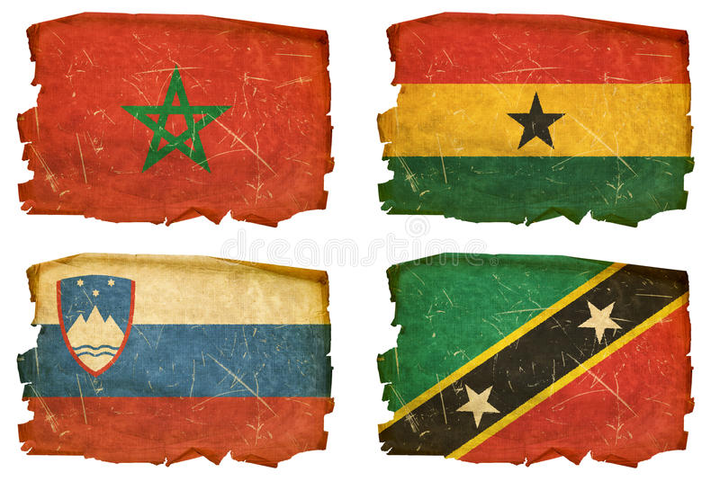 Set Flags old # 20 vector illustration