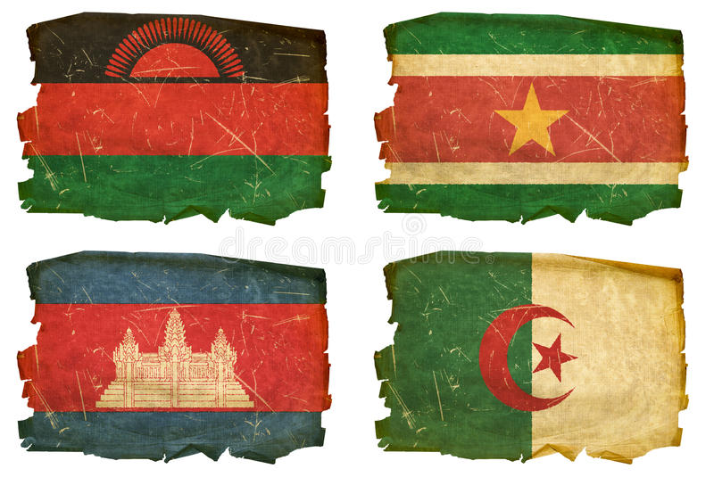 Download Set Flags old # 45 stock photo. Image of algeria, banner - 22990830