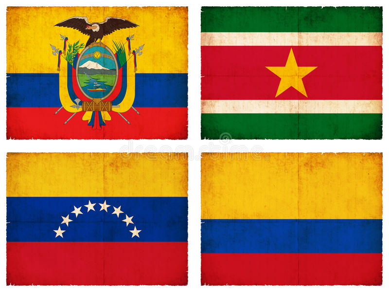 Set of flags from South America #3