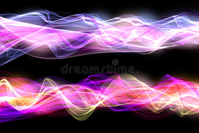 A set of flame/smoke styled backgrounds royalty free stock images