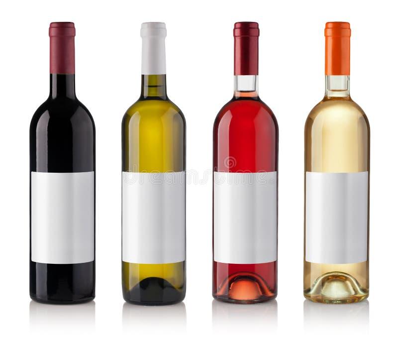 Set Flaschen getrennt auf weißem Hintergrund lizenzfreie stockfotografie