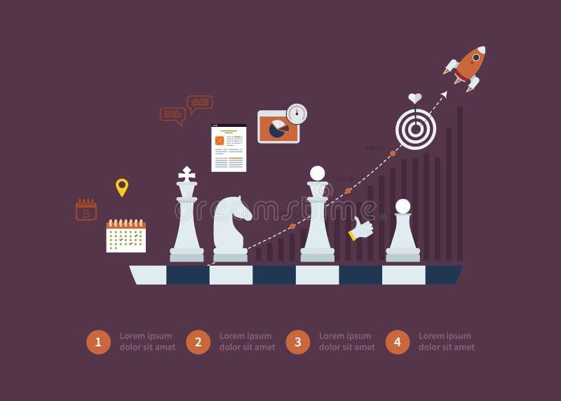 Set of flat design vector illustration concepts royalty free illustration