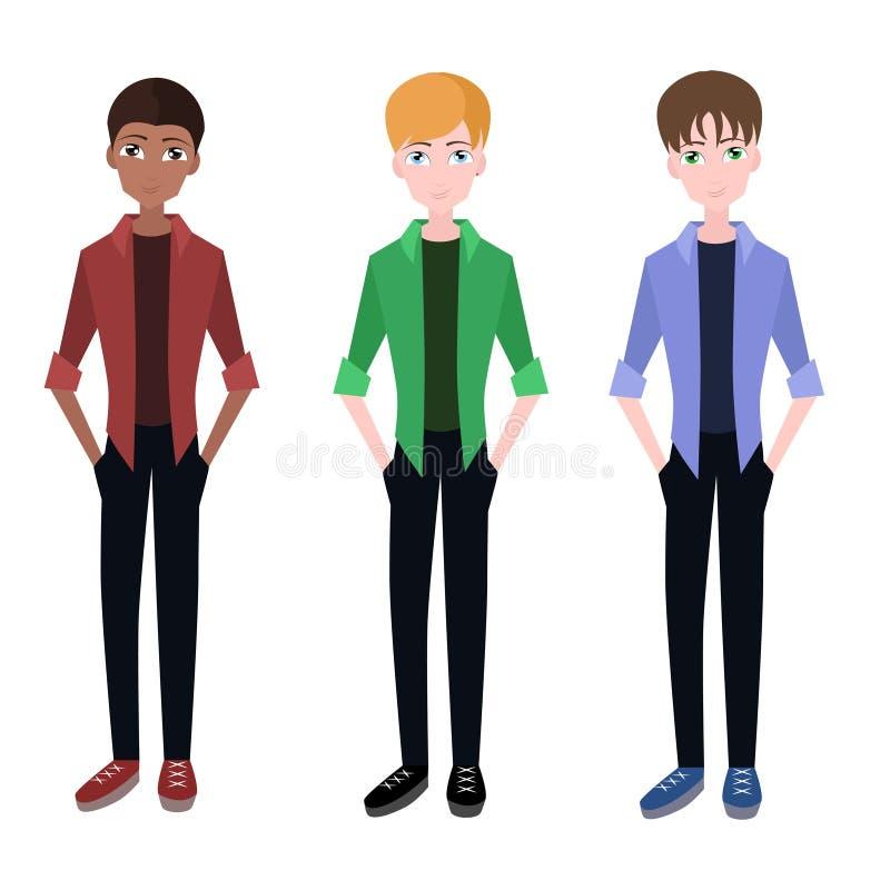 Set flat guys. For your creativity stock illustration