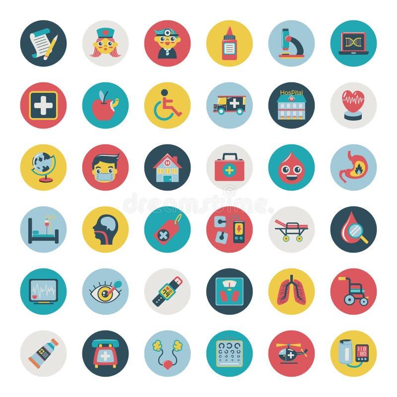 Set Of Flat Medical Icons Stock Image