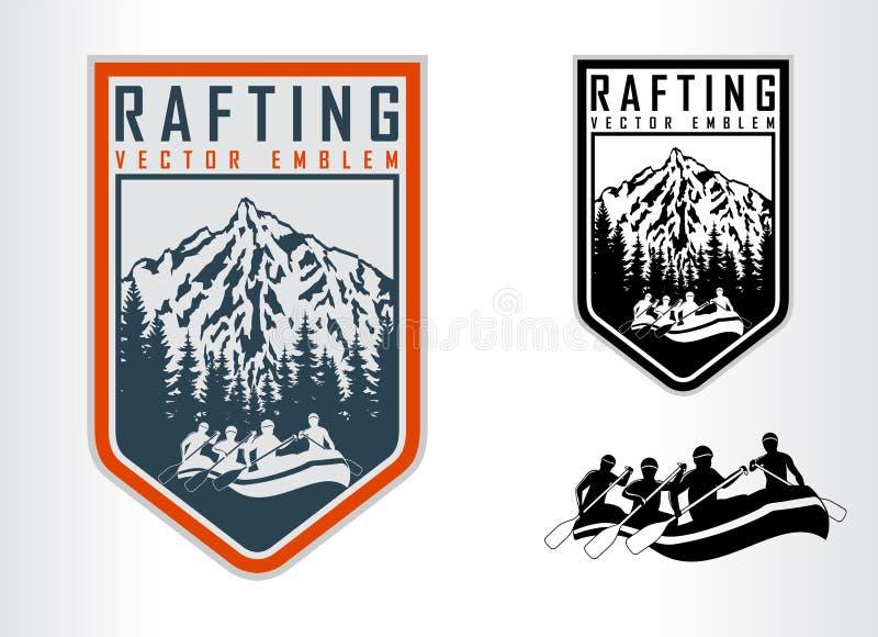 Set flisactwo emblematów logo ilustracji