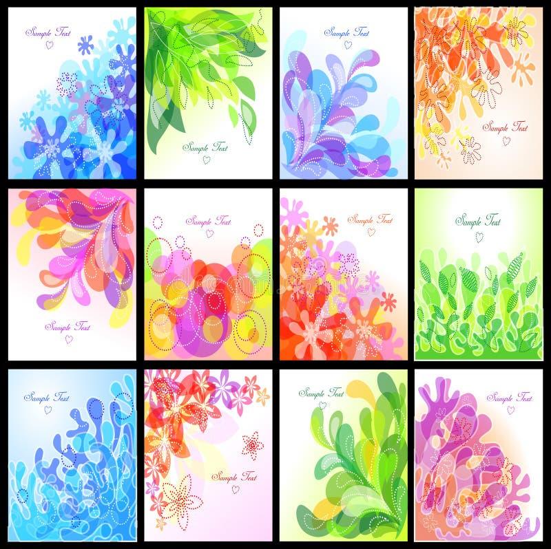 Set of floral backgrounds royalty free illustration