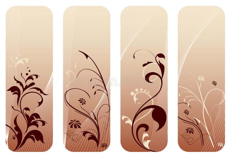 Set of floral backgrounds royalty free stock images