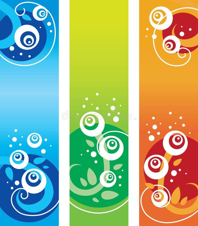 Download Set of floral banners stock vector. Illustration of illustration - 14444220
