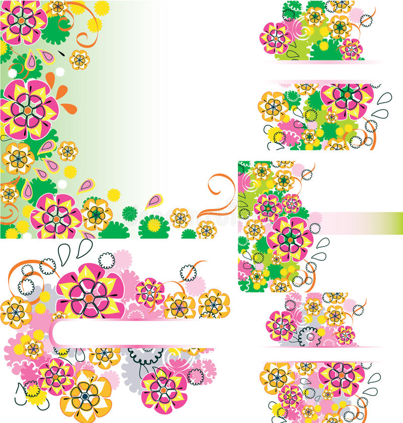 Download Set of floral card stock vector. Illustration of birth - 27219288