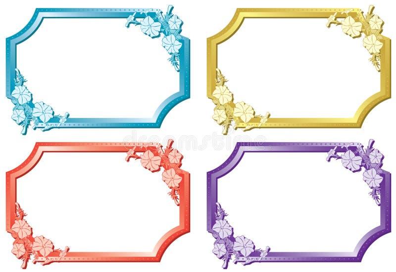 Set of floral color frames - vector royalty free illustration