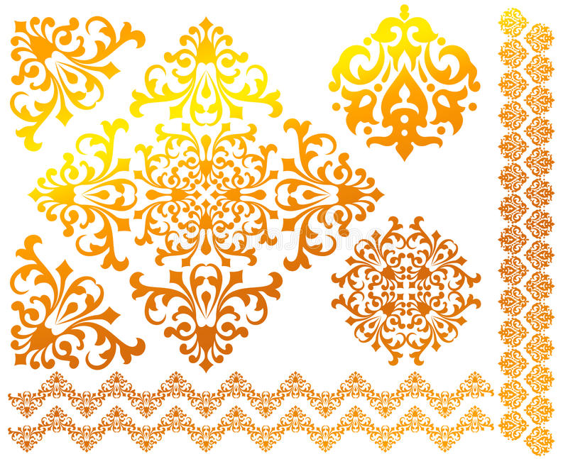 Download Set Of Floral Vector Patterns Stock Vector - Image: 20201649
