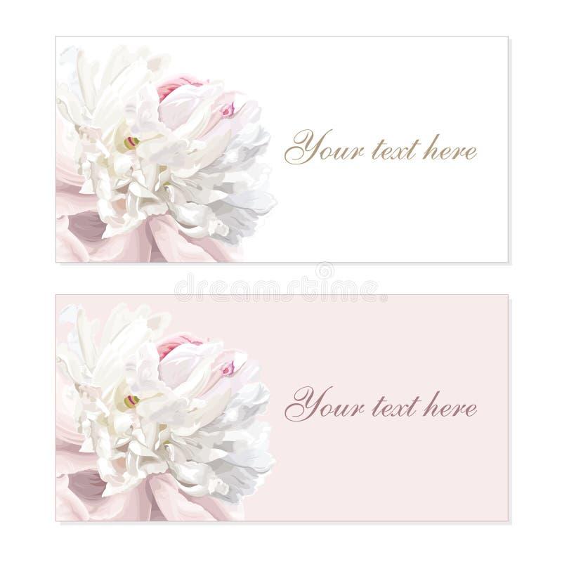 Set of flower greeting cards stock illustration