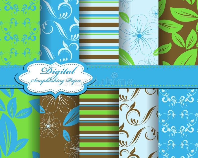 Download Set of flower  paper stock illustration. Illustration of background - 24010994