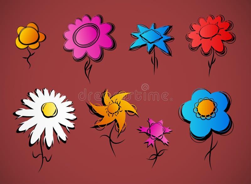Download Set of flowers stock vector. Image of garden, leaf, group - 22675598