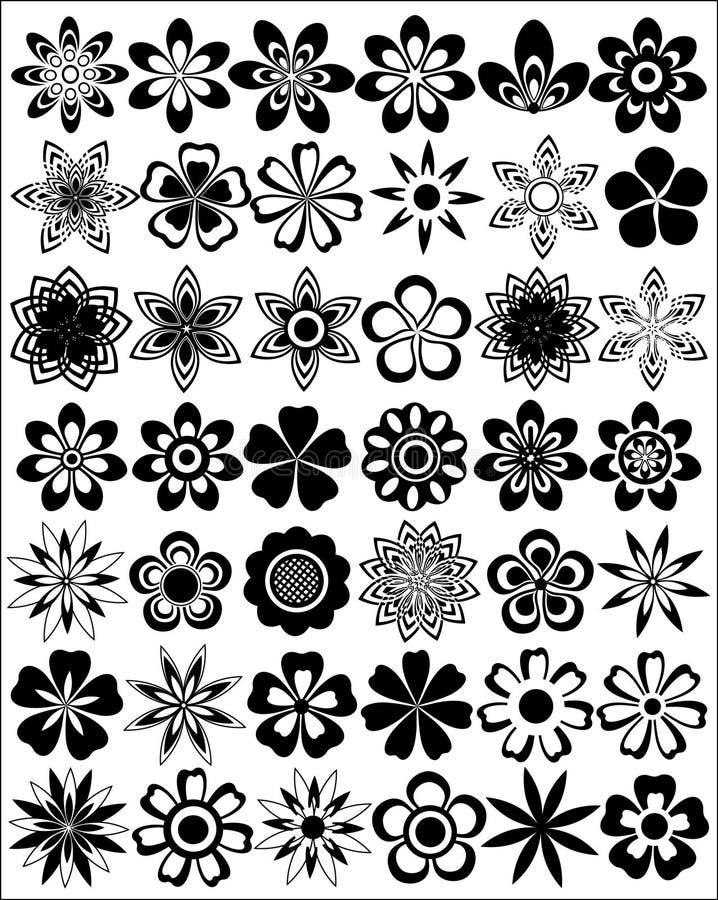 Set Of Flowers royalty free illustration