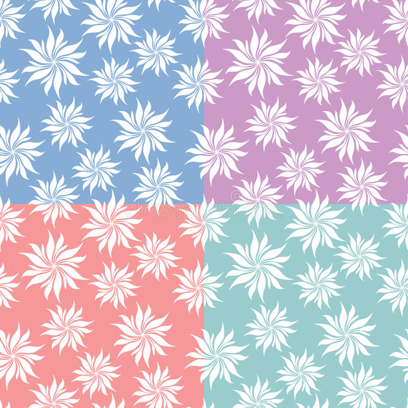 Download Set Of Flowers Seamless Patterns Stock Vector - Image: 24603147