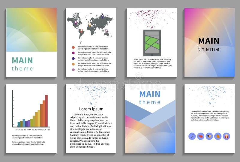 Set Of Flyer Brochure Design Templates Stock Vector Illustration