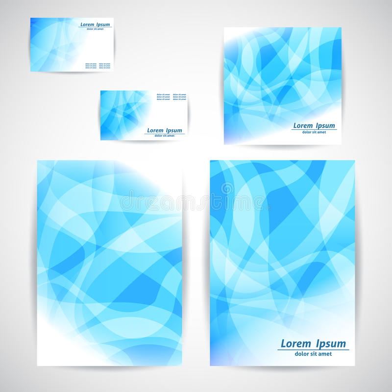 Set of Flyer, business card, Brochure Design Templates. stock illustration