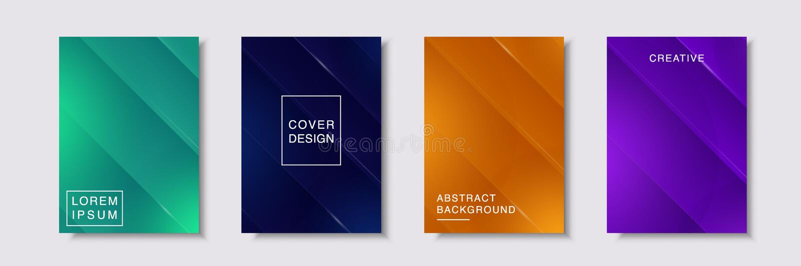 Set of flyer,cover,brochure,poster or banner template design stock photo