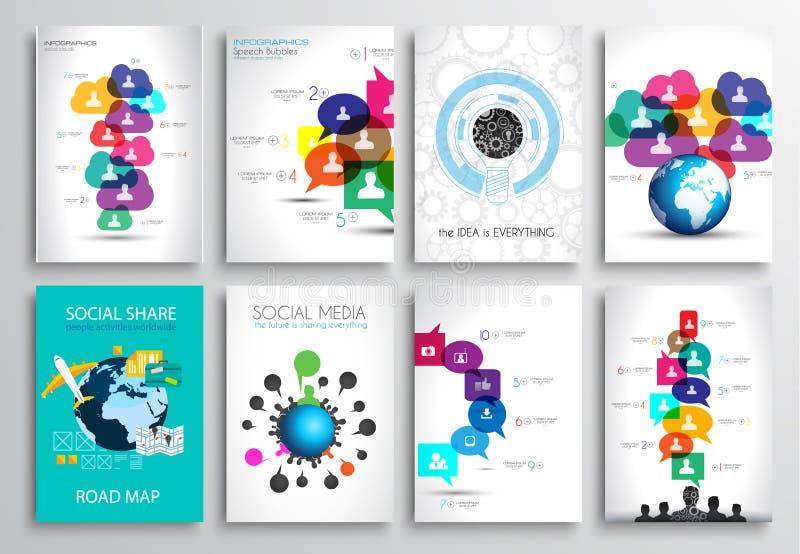 Set of Flyer Design, Web Templates. Brochure Designs royalty free illustration