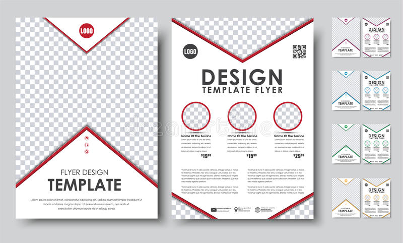 Set Flyers Brochure A4 With Empty Space For Photo Stock Vector
