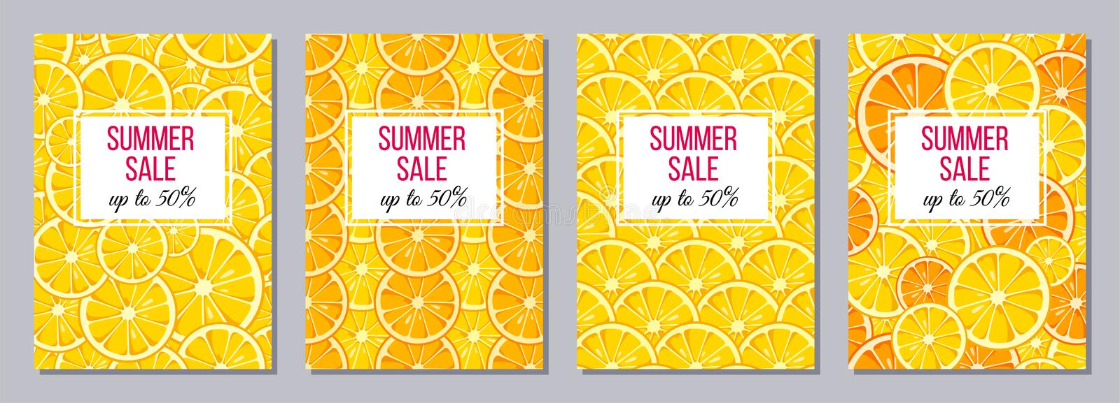 Summer Sale templates A6 size. vector illustration