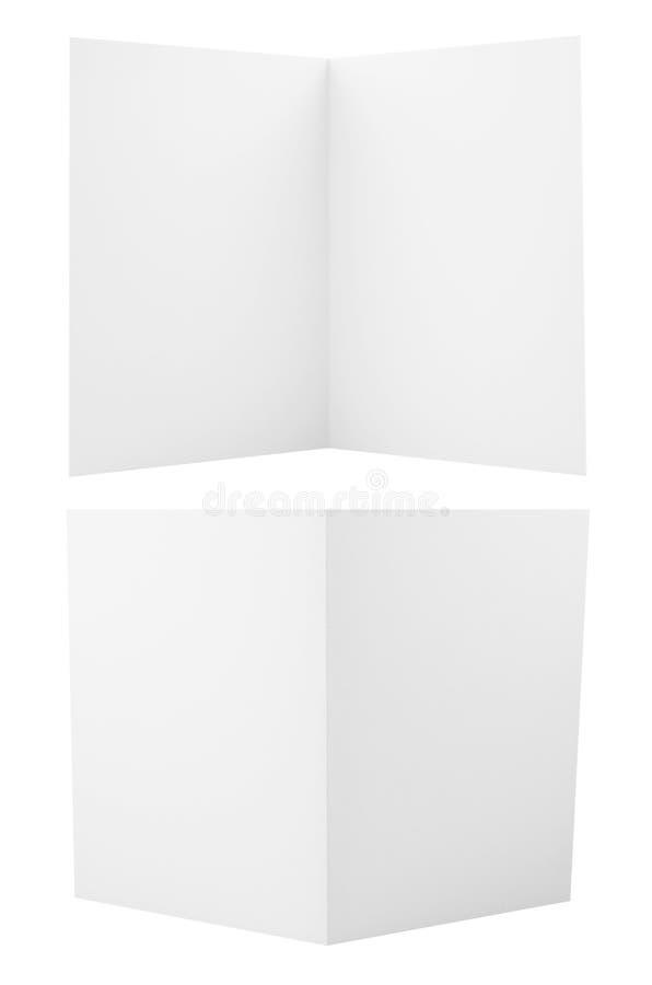 Set of folded A4 paper sheets vector illustration