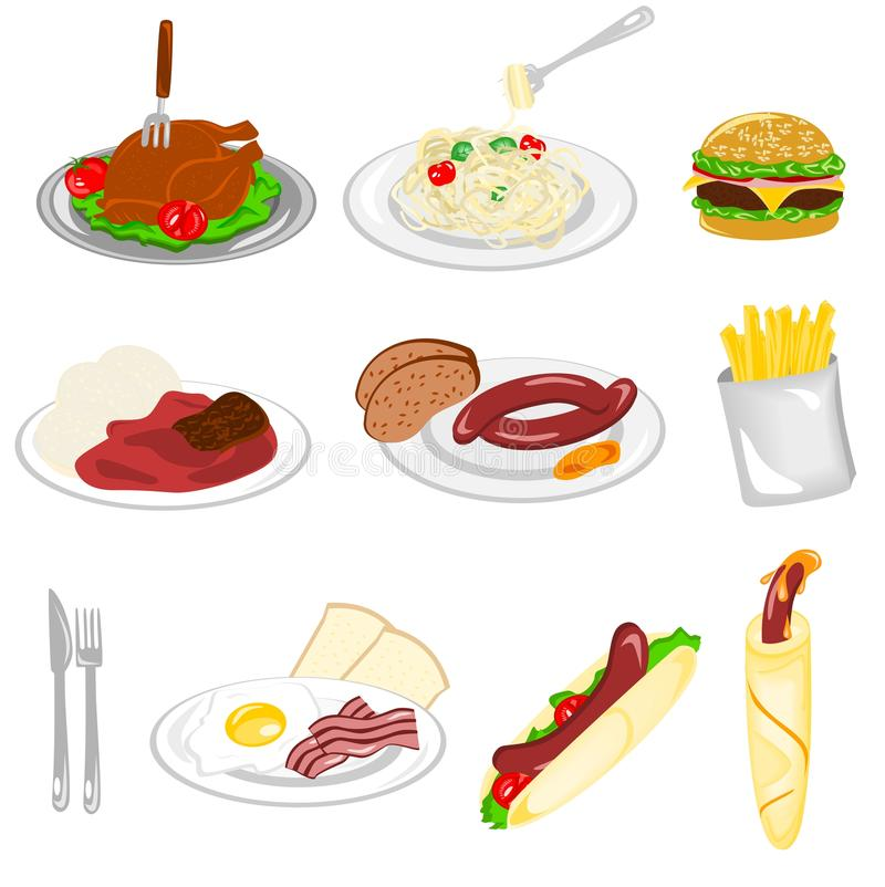 Download Set of food stock vector. Illustration of cooking, isolated - 23741163