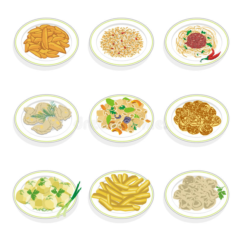 Set Of Food Royalty Free Stock Image