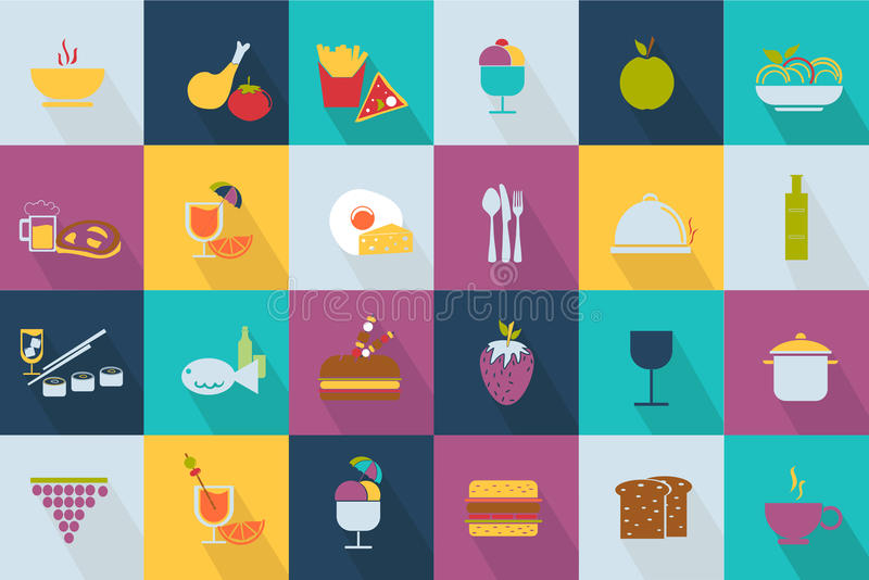 Set of food icons. Web 2.0 style vector illustration
