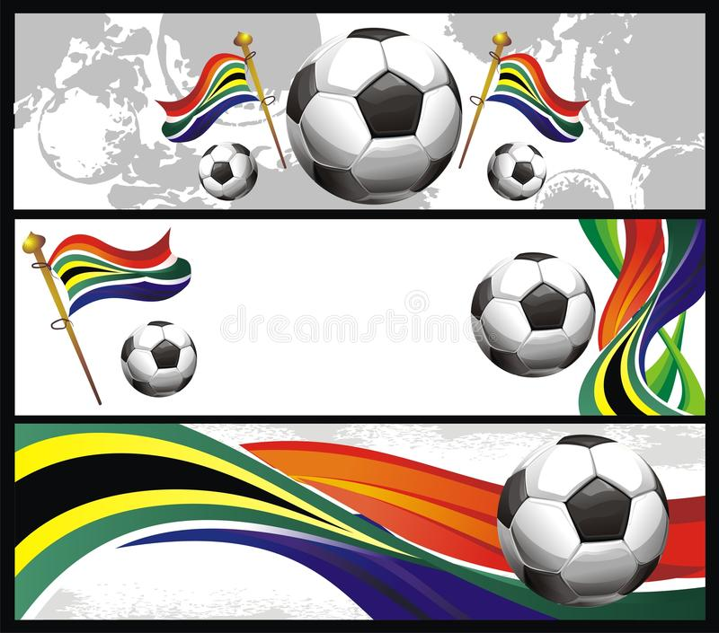 Set Of Football Banners Royalty Free Stock Photos