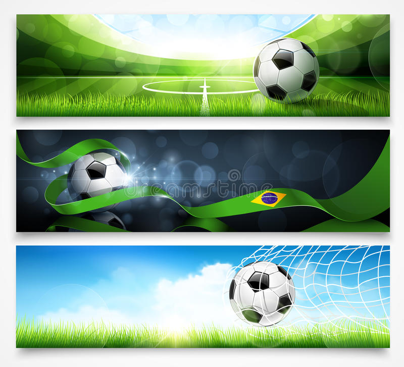 Set of football banners royalty free stock photo
