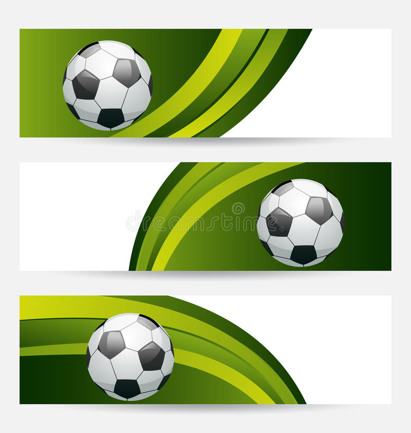 Set Football Cards With Place For Your Text Stock Images