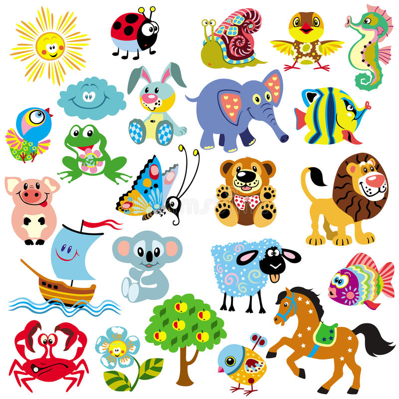 Free Set For Little Kids Stock Photos - 33312733