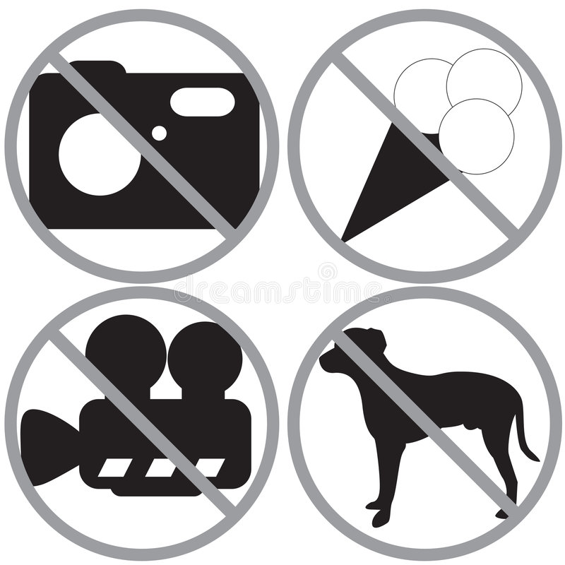 Download Set of forbidden signs stock vector. Image of restrict - 7322511
