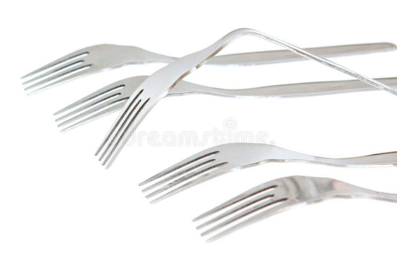 A set of forks in the conceptual solution.