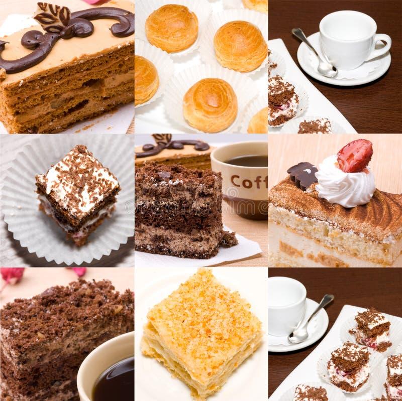 Set Fotos von Kuchen lizenzfreie stockfotografie