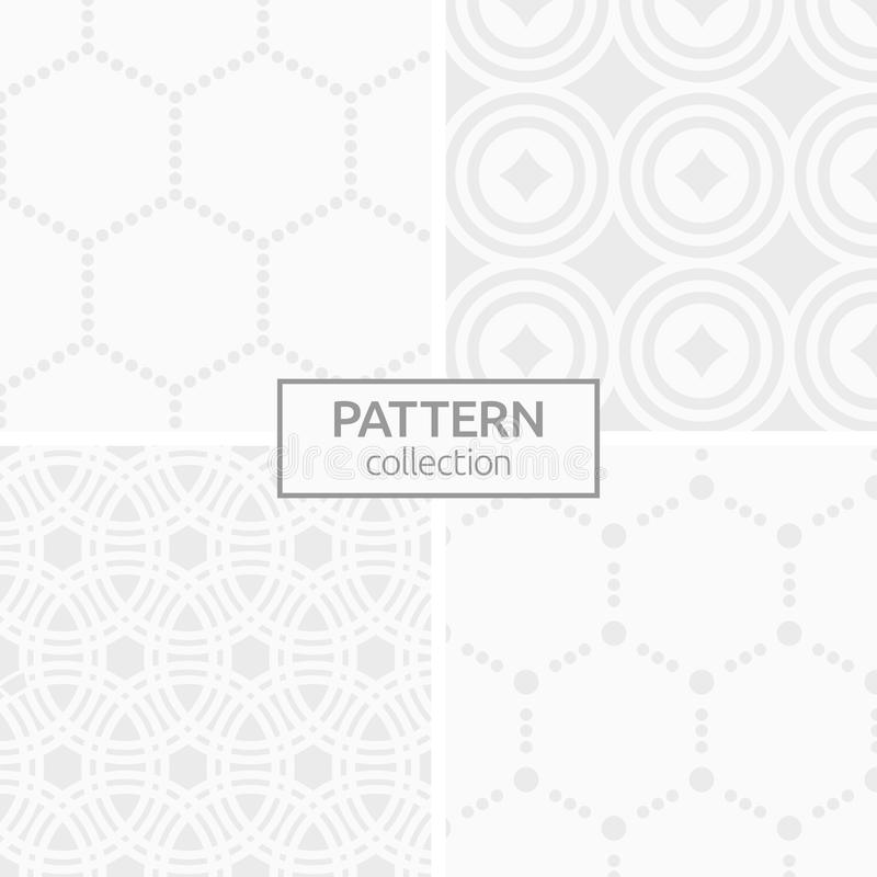 Set of four abstract geometric seamless patterns. royalty free illustration